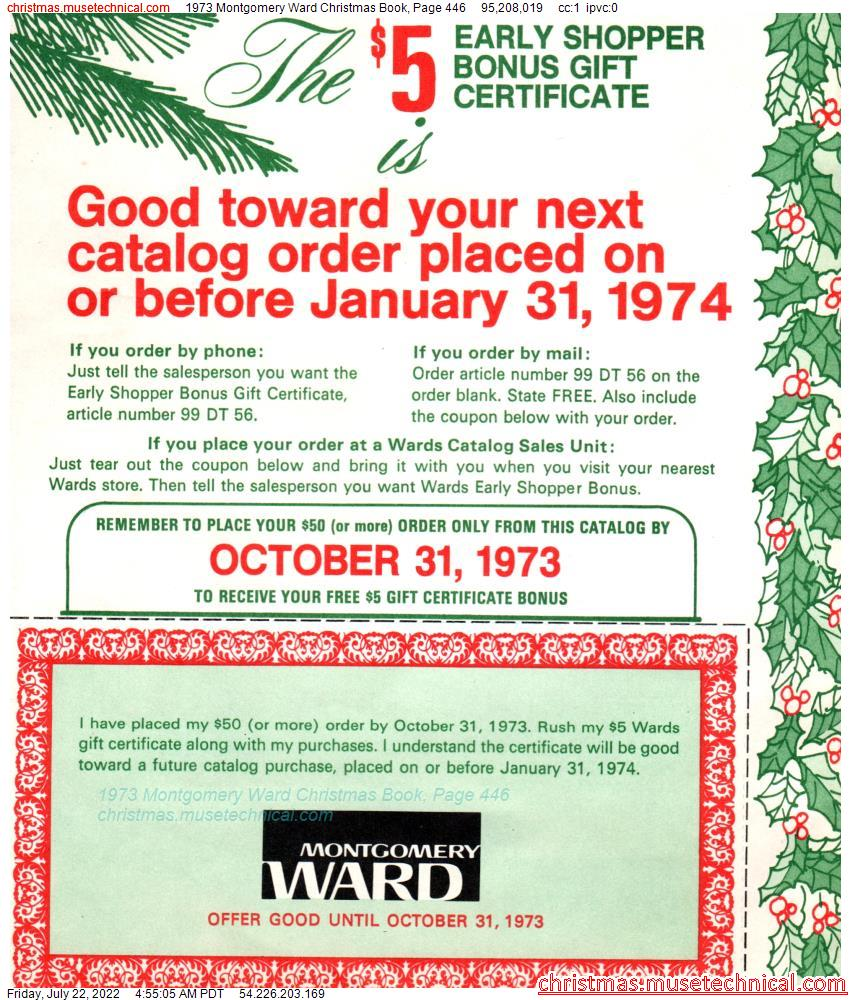 1973 Montgomery Ward Christmas Book, Page 446