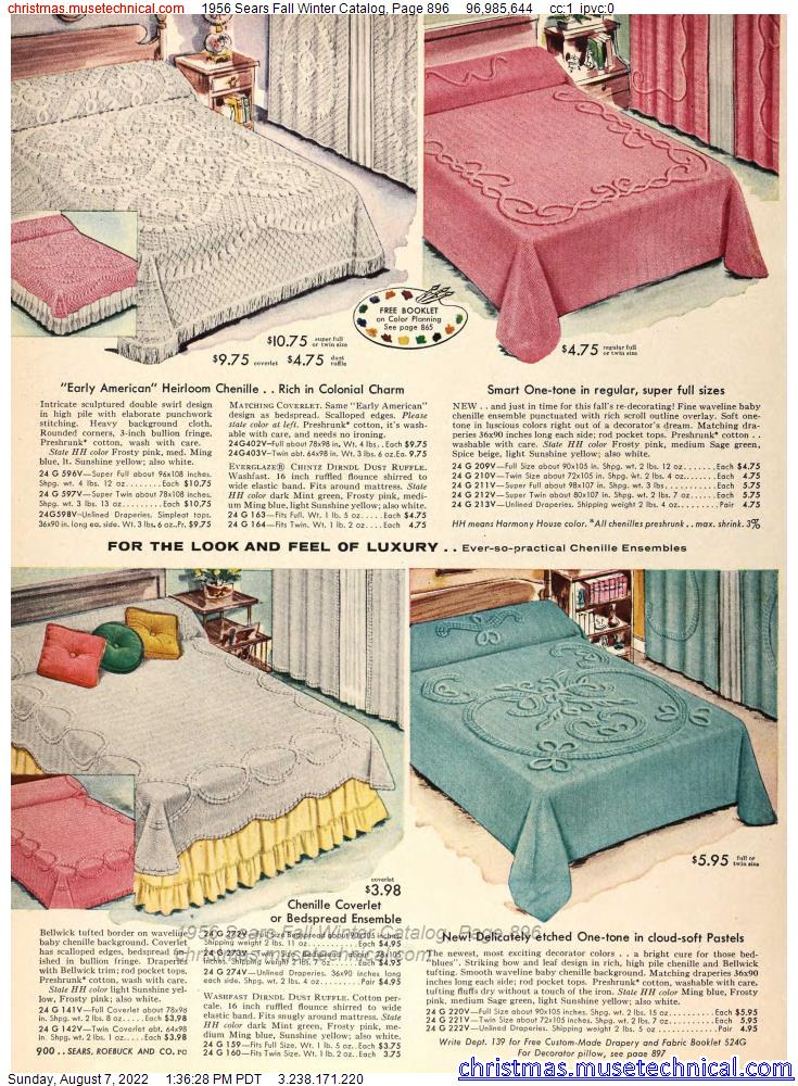 1956 Sears Fall Winter Catalog, Page 896