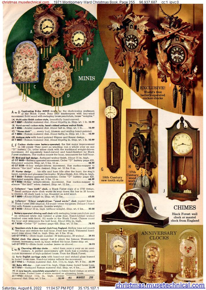 1971 Montgomery Ward Christmas Book, Page 255
