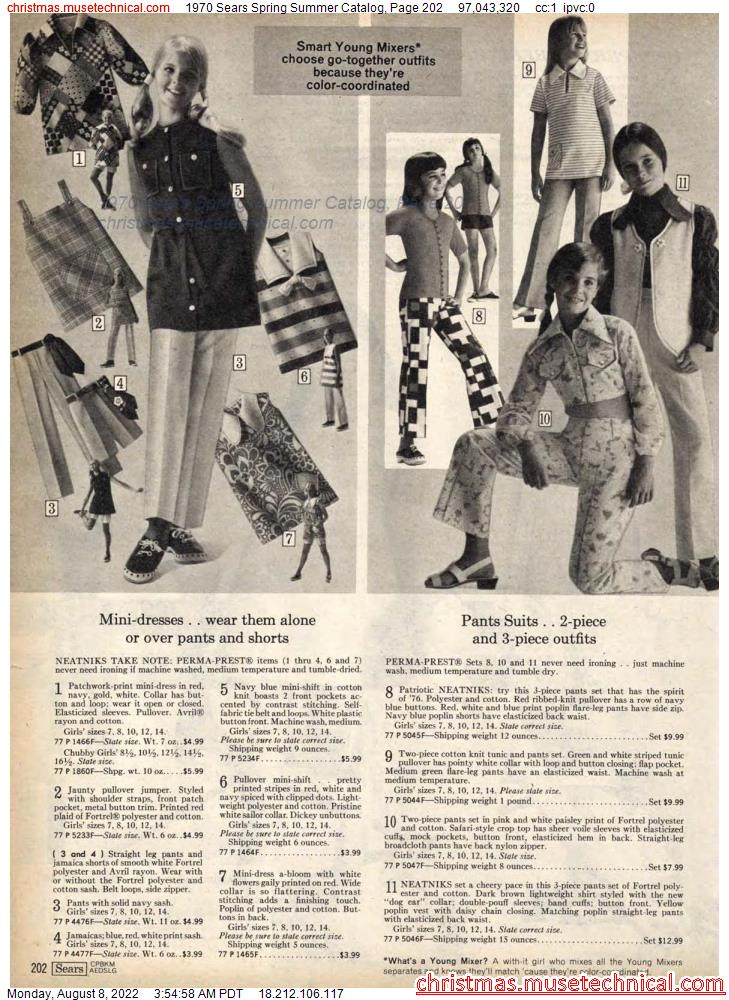 1970 Sears Spring Summer Catalog, Page 202