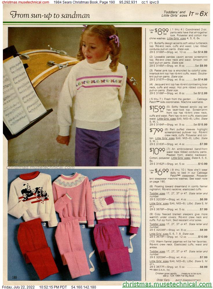 1984 Sears Christmas Book, Page 190