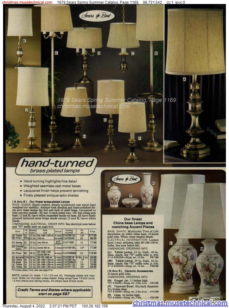 1979 Sears Spring Summer Catalog, Page 1169