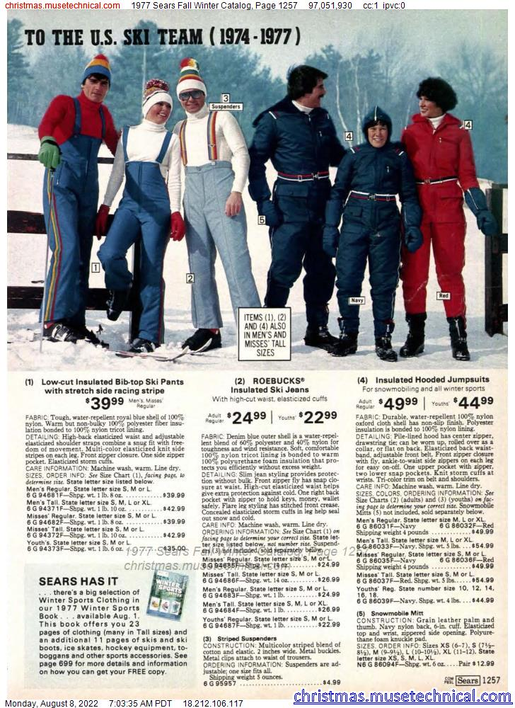 1977 Sears Fall Winter Catalog, Page 1257