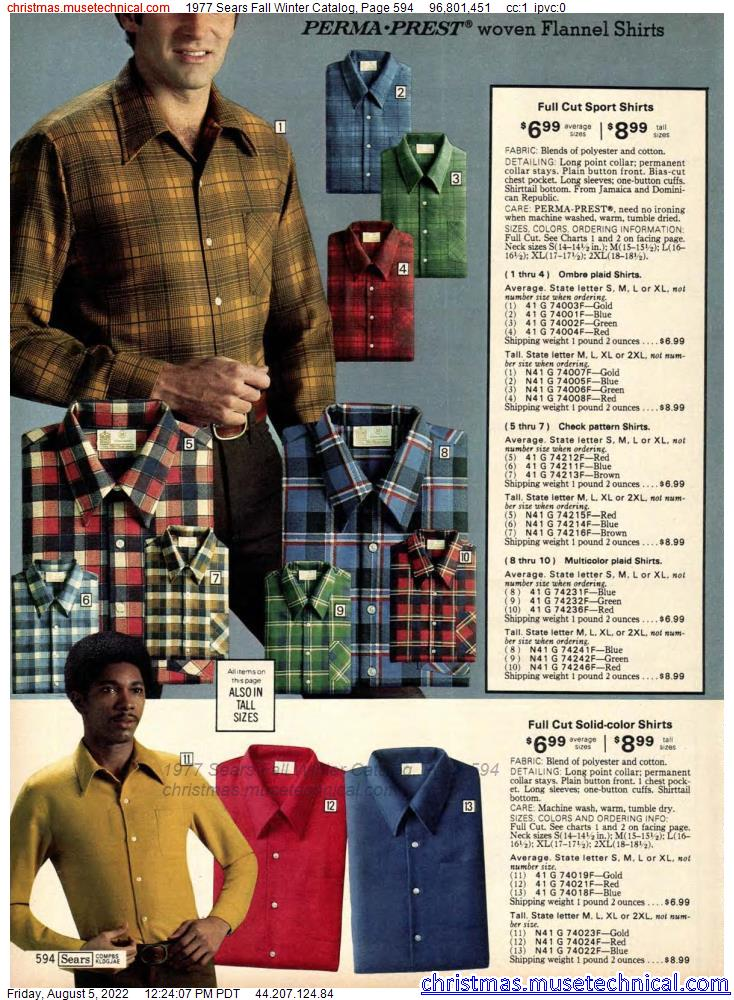 1977 Sears Fall Winter Catalog, Page 594