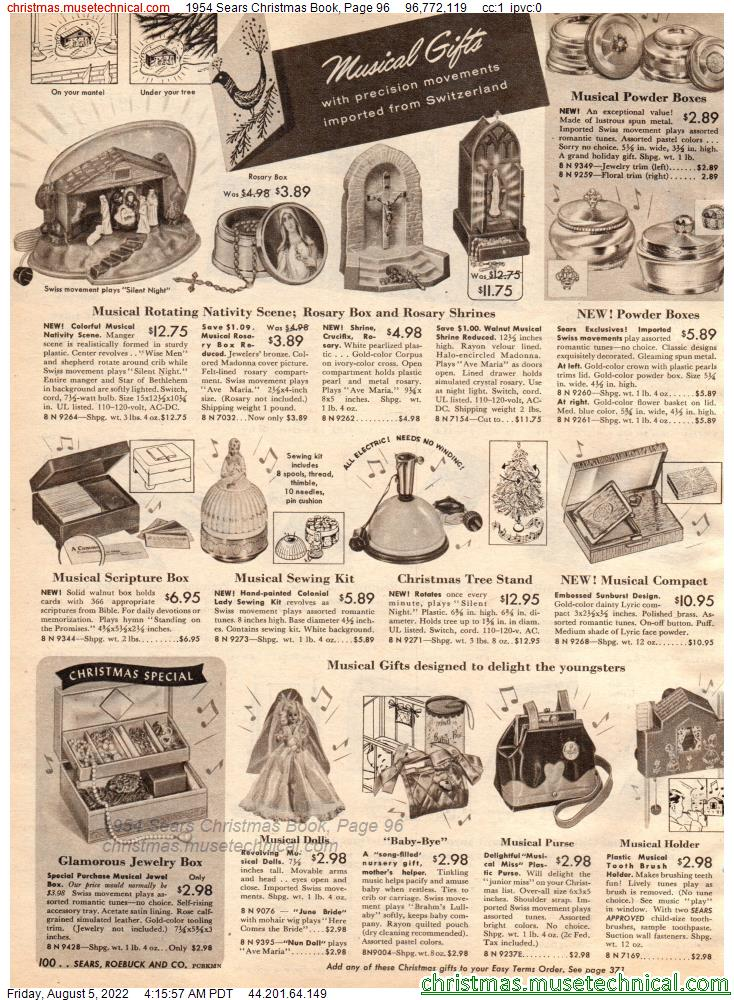 1954 Sears Christmas Book, Page 96