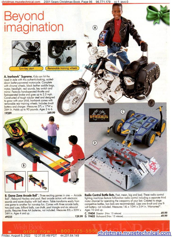 2001 Sears Christmas Book, Page 96