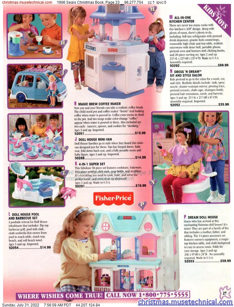 1996 Sears Christmas Book, Page 33