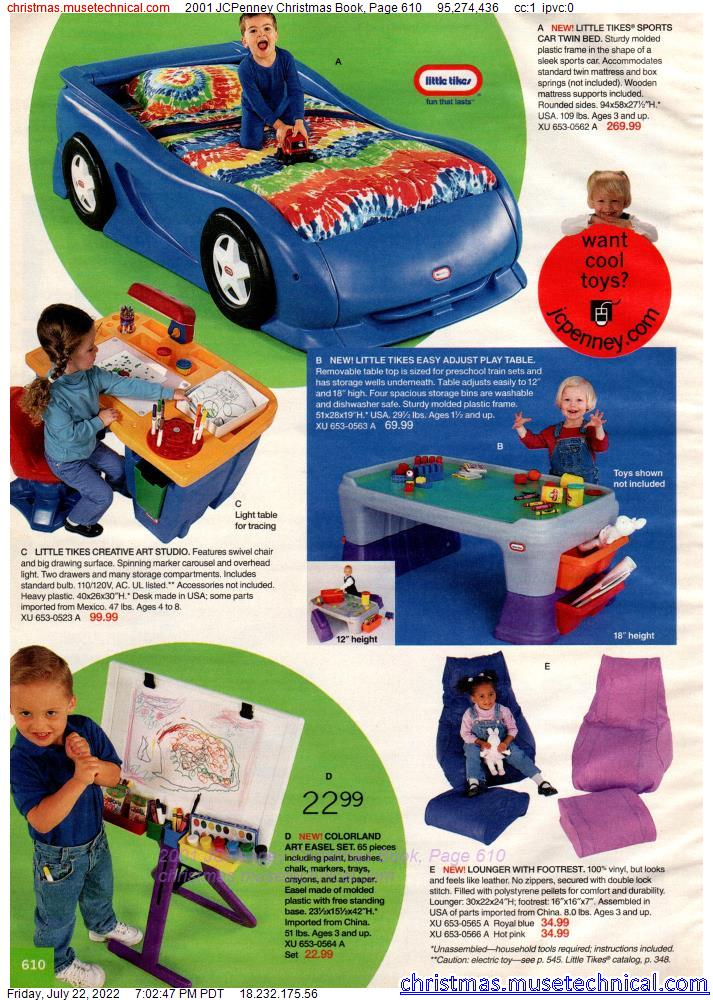 2001 JCPenney Christmas Book, Page 610