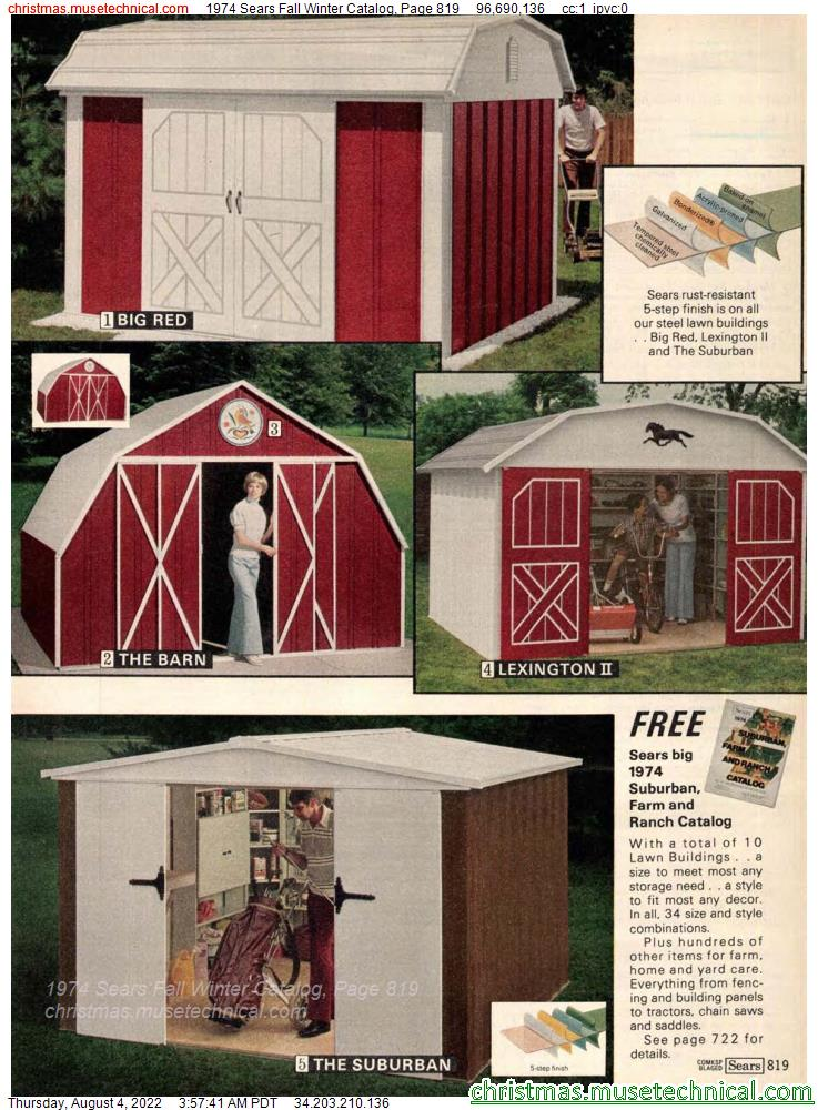 1974 Sears Fall Winter Catalog, Page 819