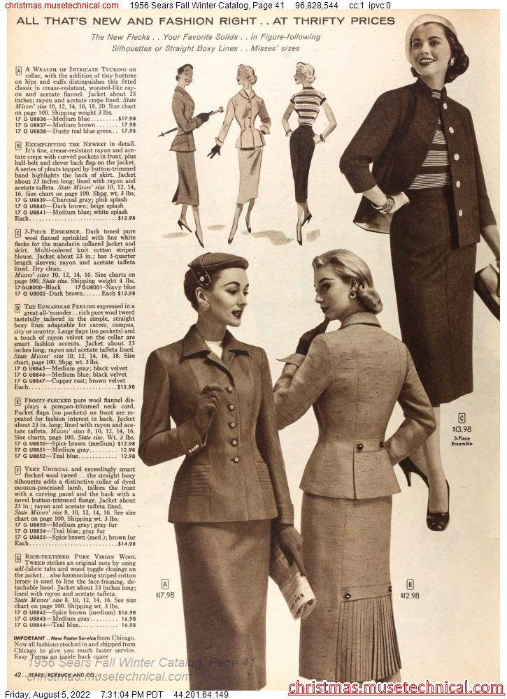 1956 Sears Fall Winter Catalog, Page 41