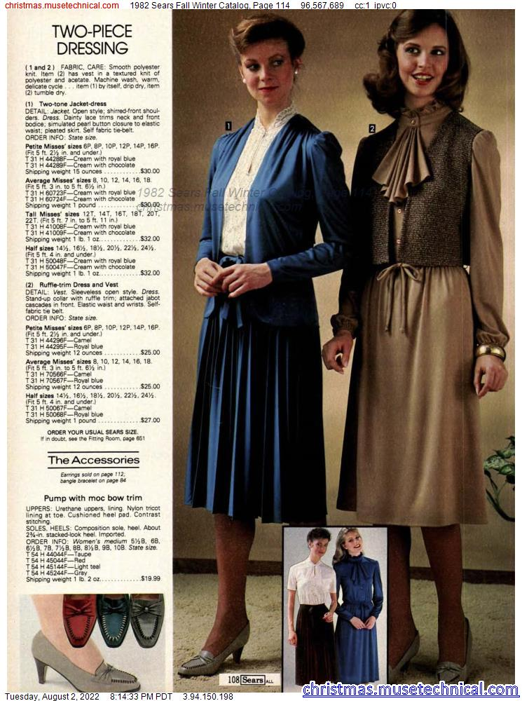 1982 Sears Fall Winter Catalog, Page 114