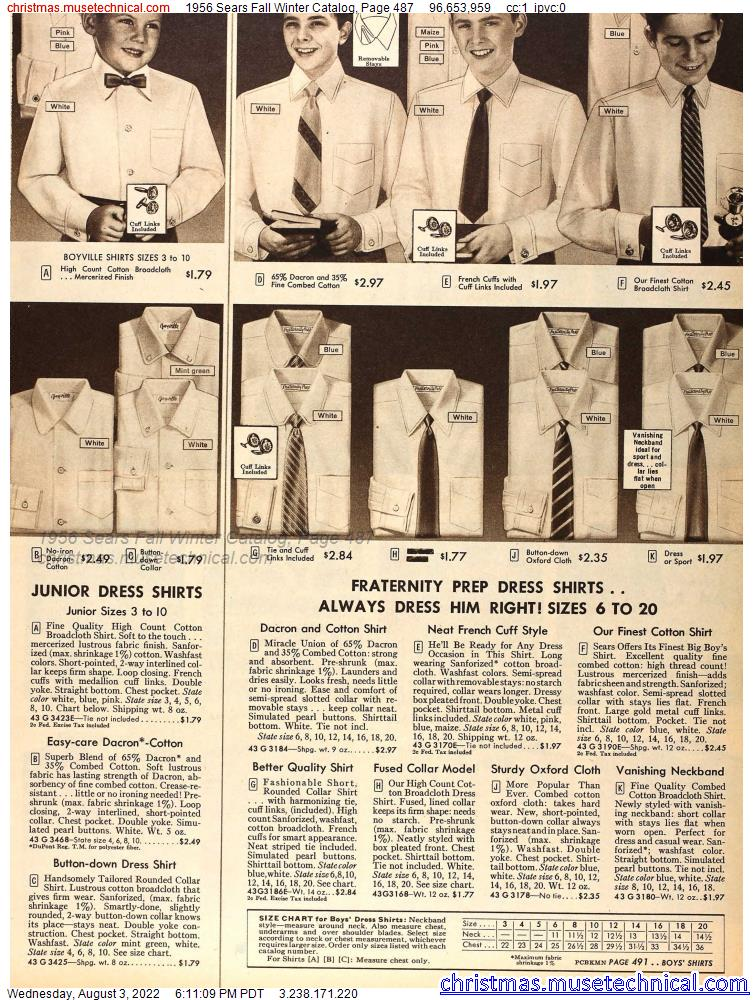 1956 Sears Fall Winter Catalog, Page 487
