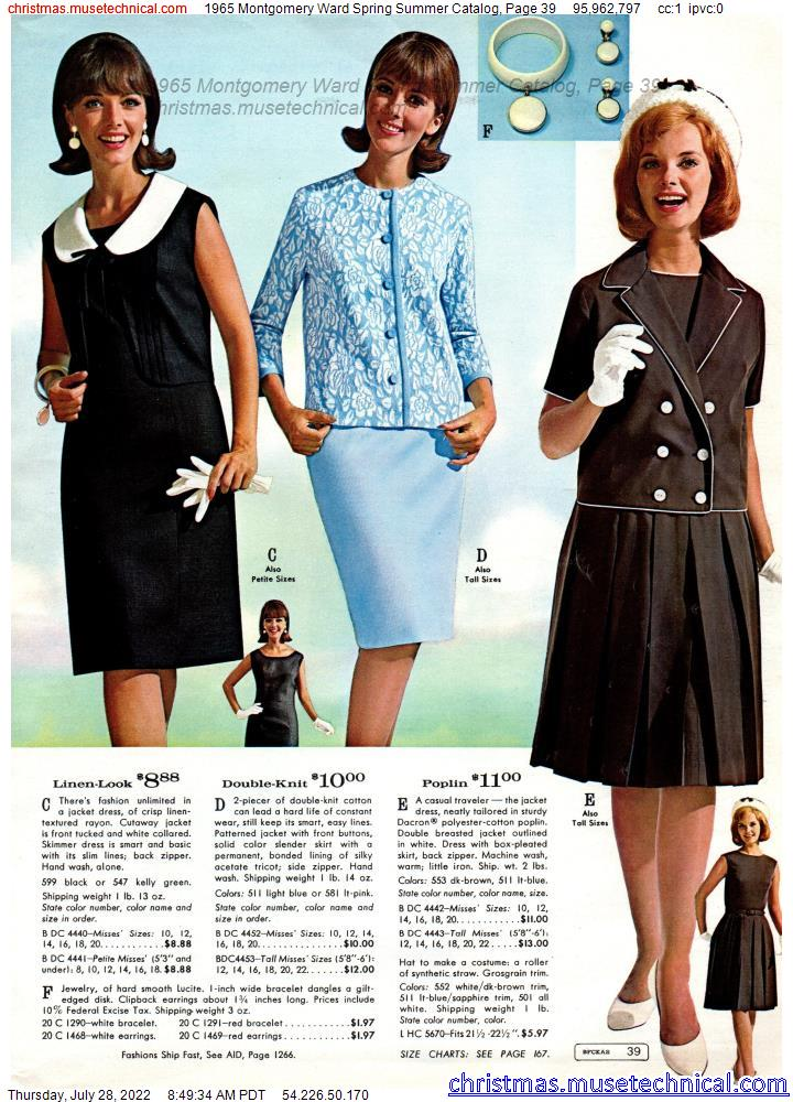 1965 Montgomery Ward Spring Summer Catalog, Page 39