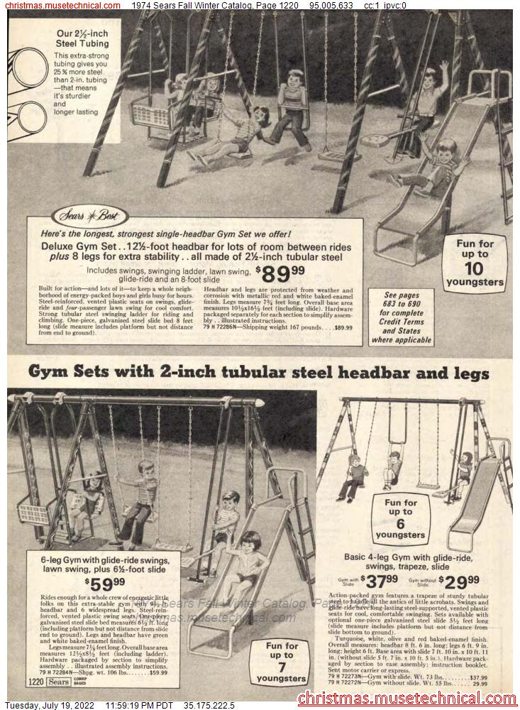 1974 Sears Fall Winter Catalog, Page 1220