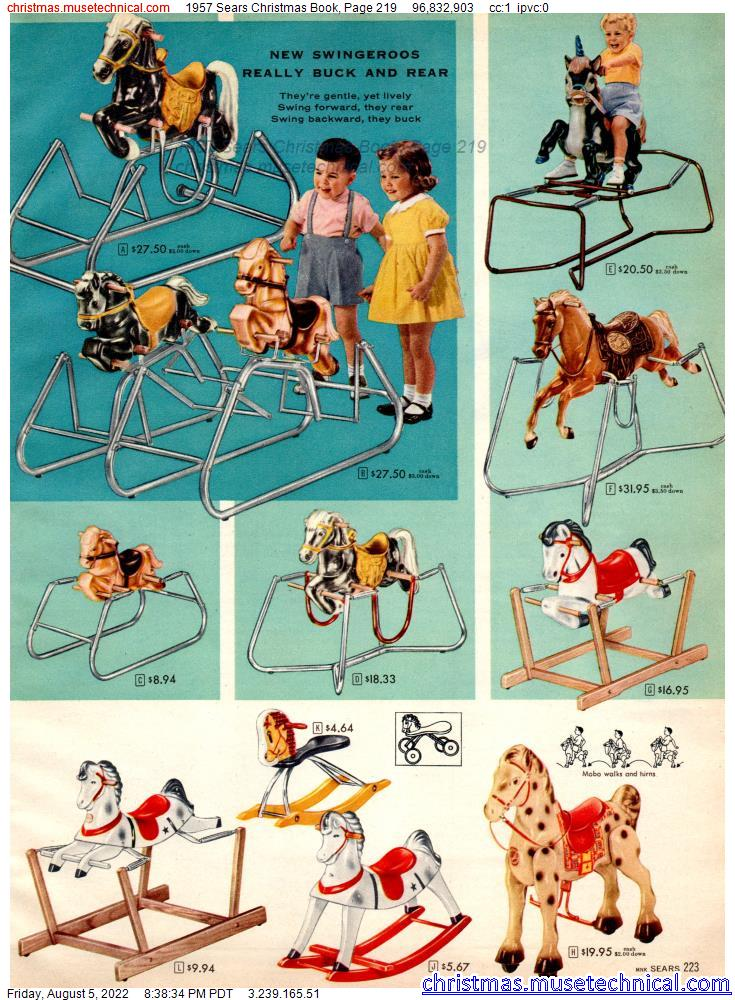1957 Sears Christmas Book, Page 219