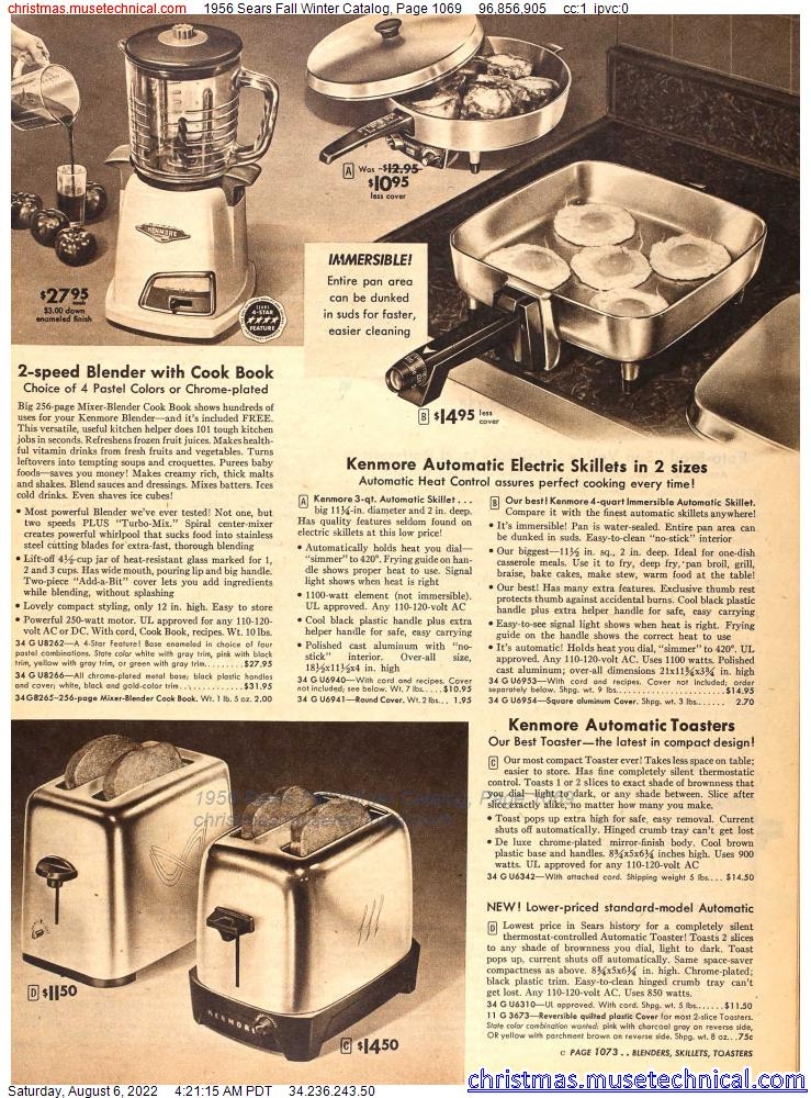1956 Sears Fall Winter Catalog, Page 1069