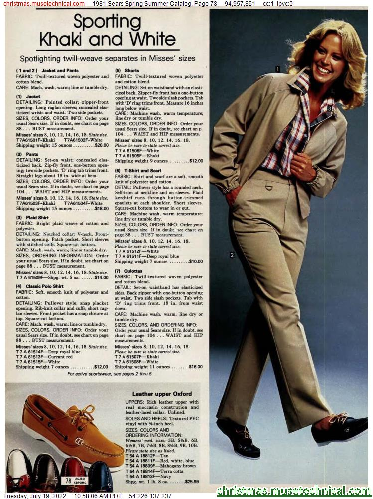 1981 Sears Spring Summer Catalog, Page 78