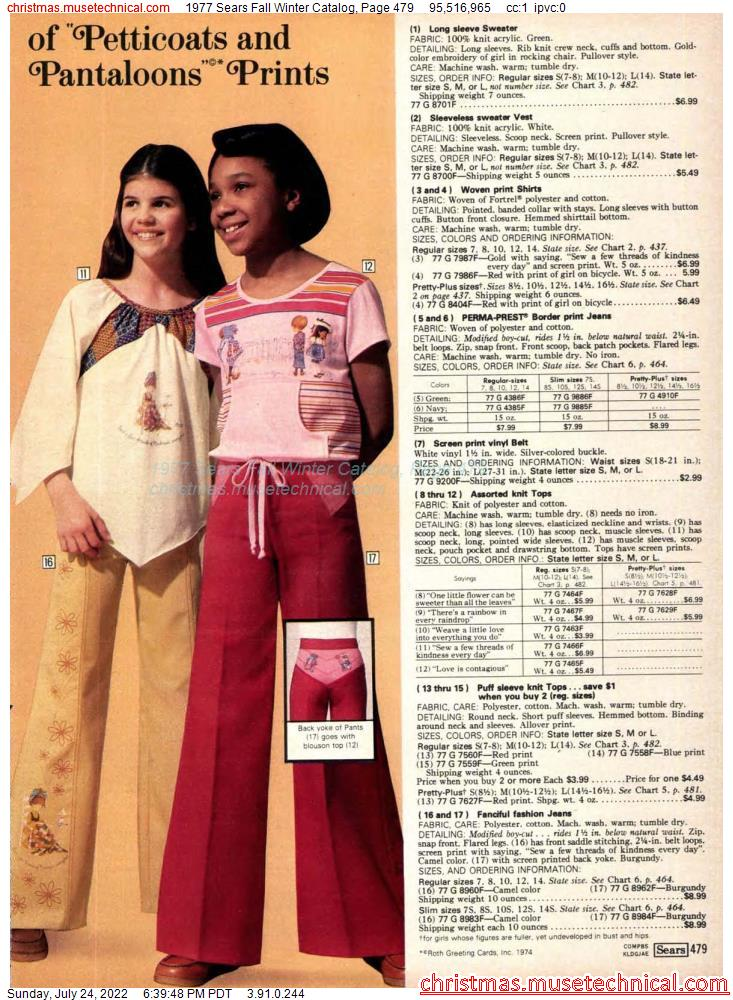 1977 Sears Fall Winter Catalog, Page 479