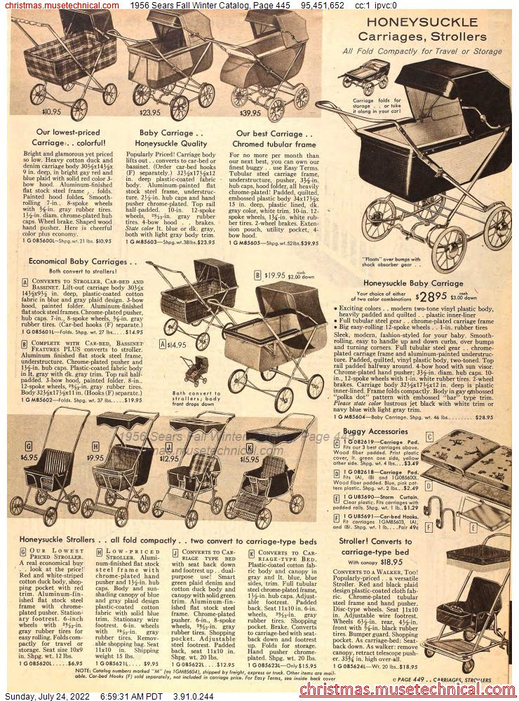1956 Sears Fall Winter Catalog, Page 445