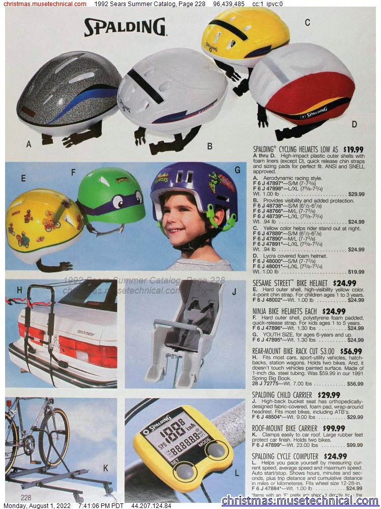 1992 Sears Summer Catalog, Page 228