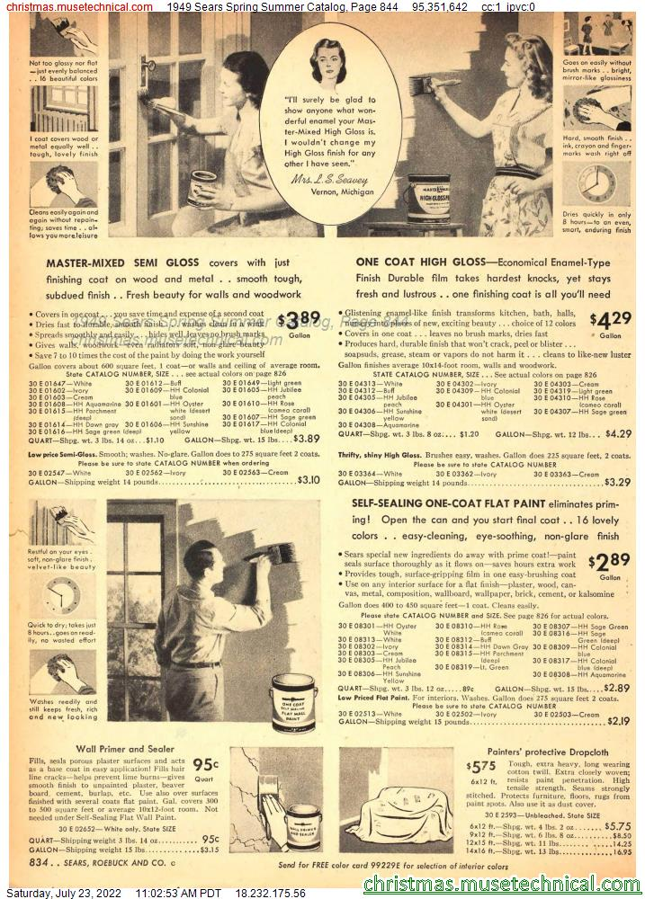 1949 Sears Spring Summer Catalog, Page 844