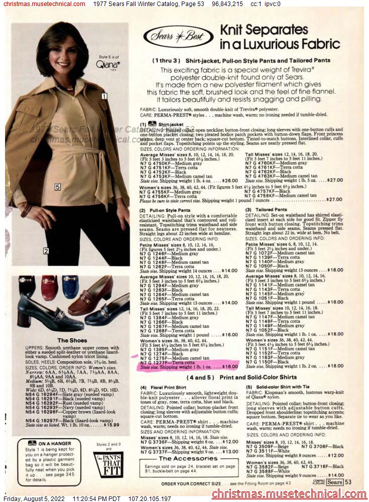 1977 Sears Fall Winter Catalog, Page 53