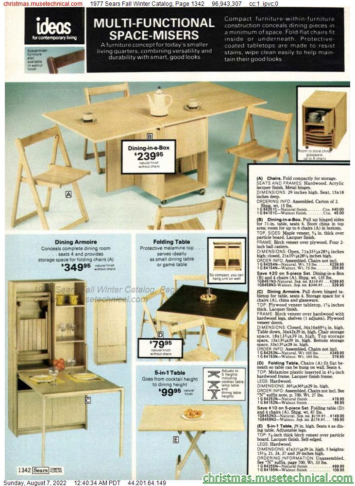 1977 Sears Fall Winter Catalog, Page 1342