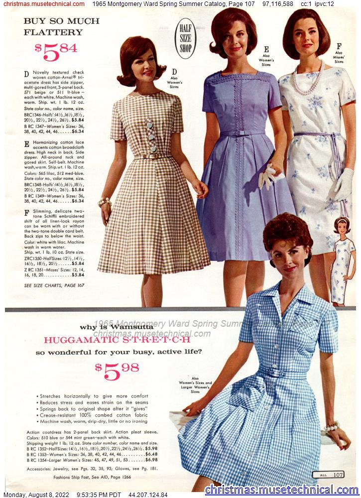 1965 Montgomery Ward Spring Summer Catalog, Page 107