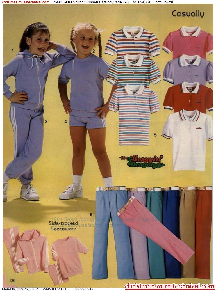 1984 Sears Spring Summer Catalog, Page 290