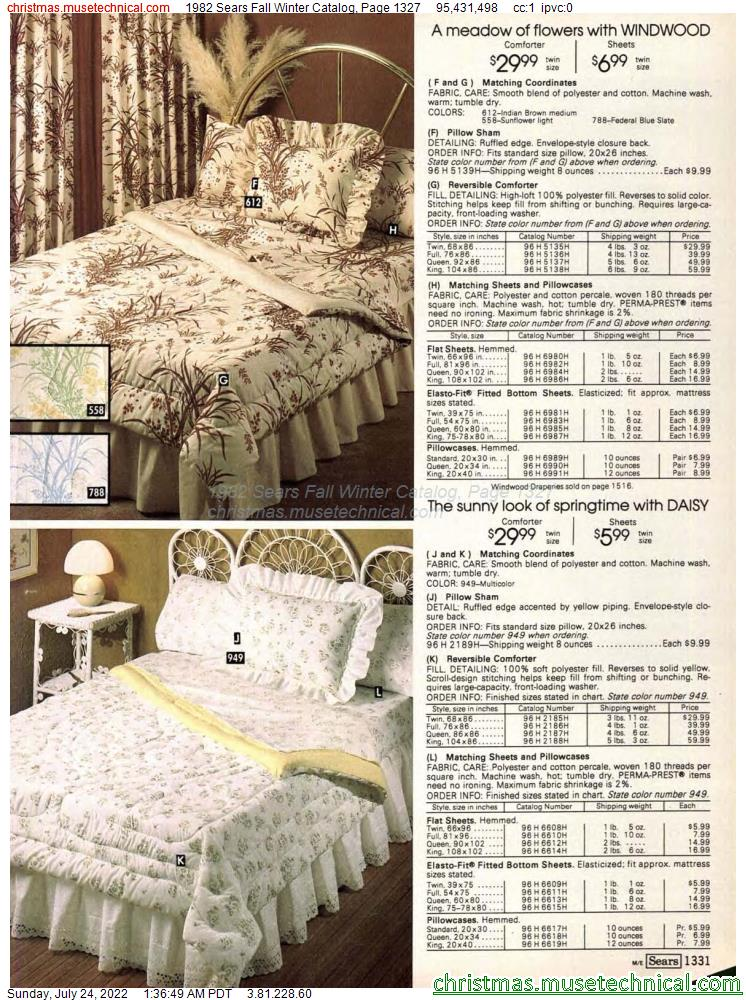 1982 Sears Fall Winter Catalog, Page 1327