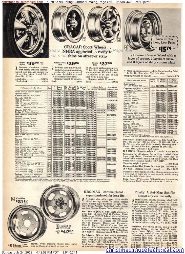 1970 Sears Spring Summer Catalog, Page 458