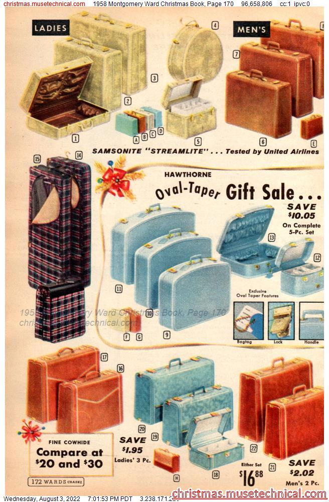 1958 Montgomery Ward Christmas Book, Page 170