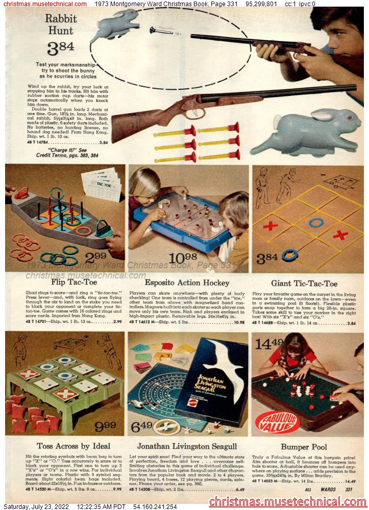 1973 Montgomery Ward Christmas Book, Page 331