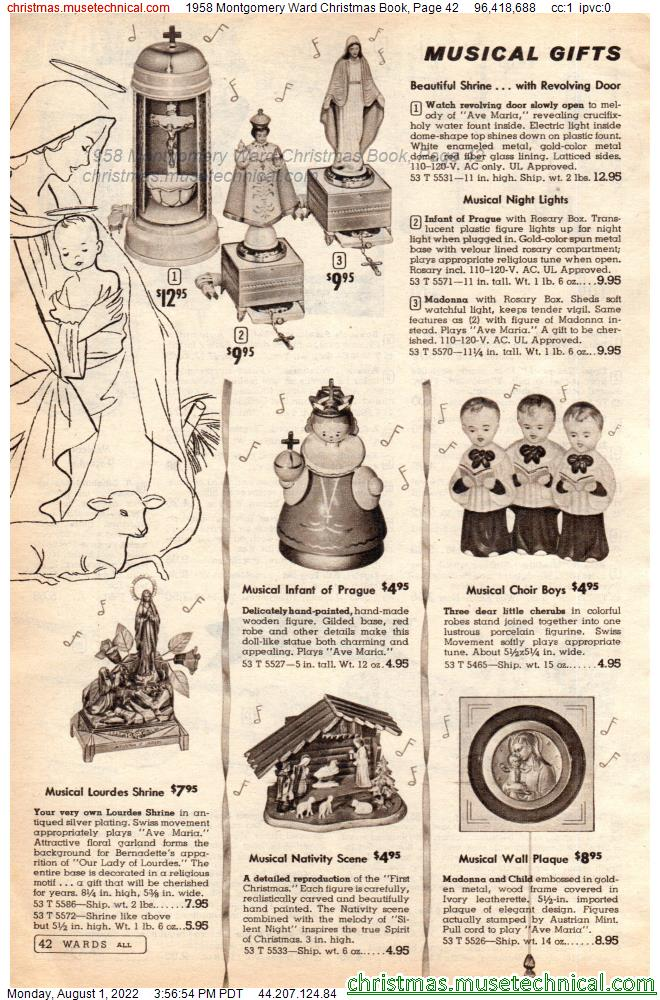 1958 Montgomery Ward Christmas Book, Page 42