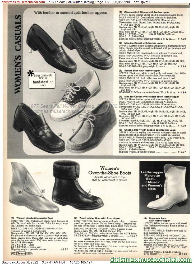 1977 Sears Fall Winter Catalog, Page 302