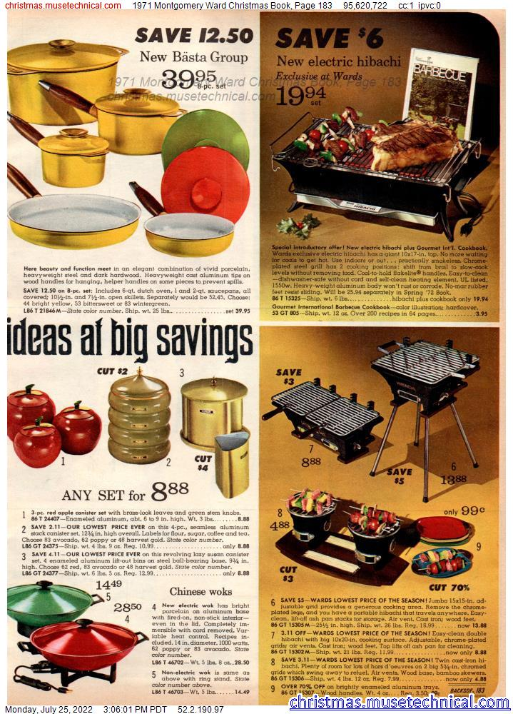 1971 Montgomery Ward Christmas Book, Page 183