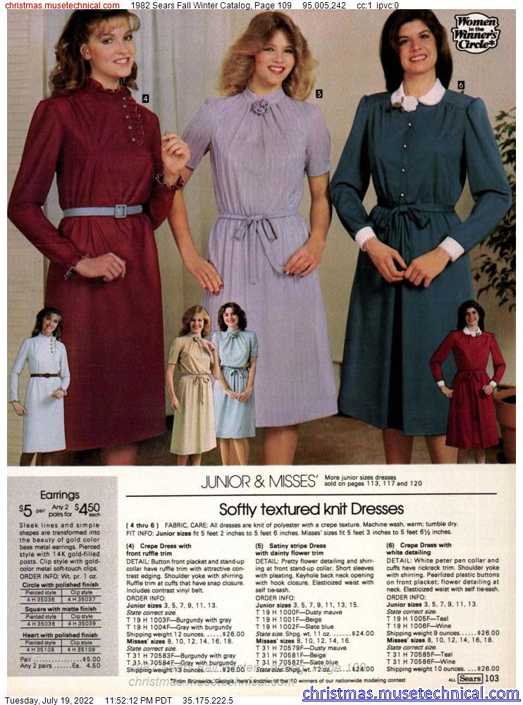 1982 Sears Fall Winter Catalog, Page 109