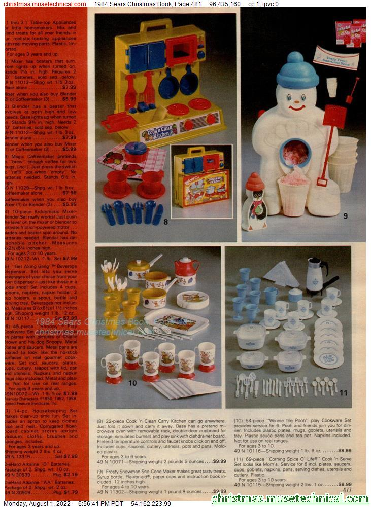 1984 Sears Christmas Book, Page 481