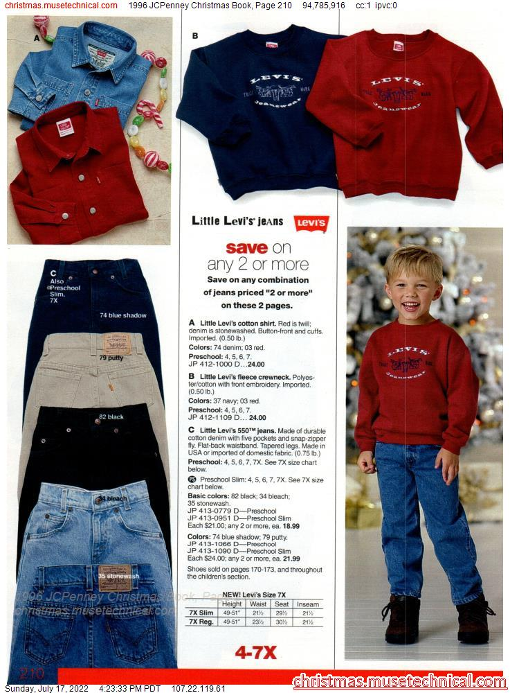 1996 JCPenney Christmas Book, Page 210