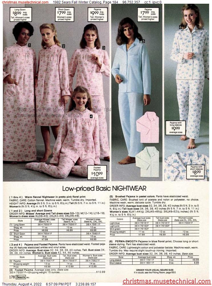 1982 Sears Fall Winter Catalog, Page 184