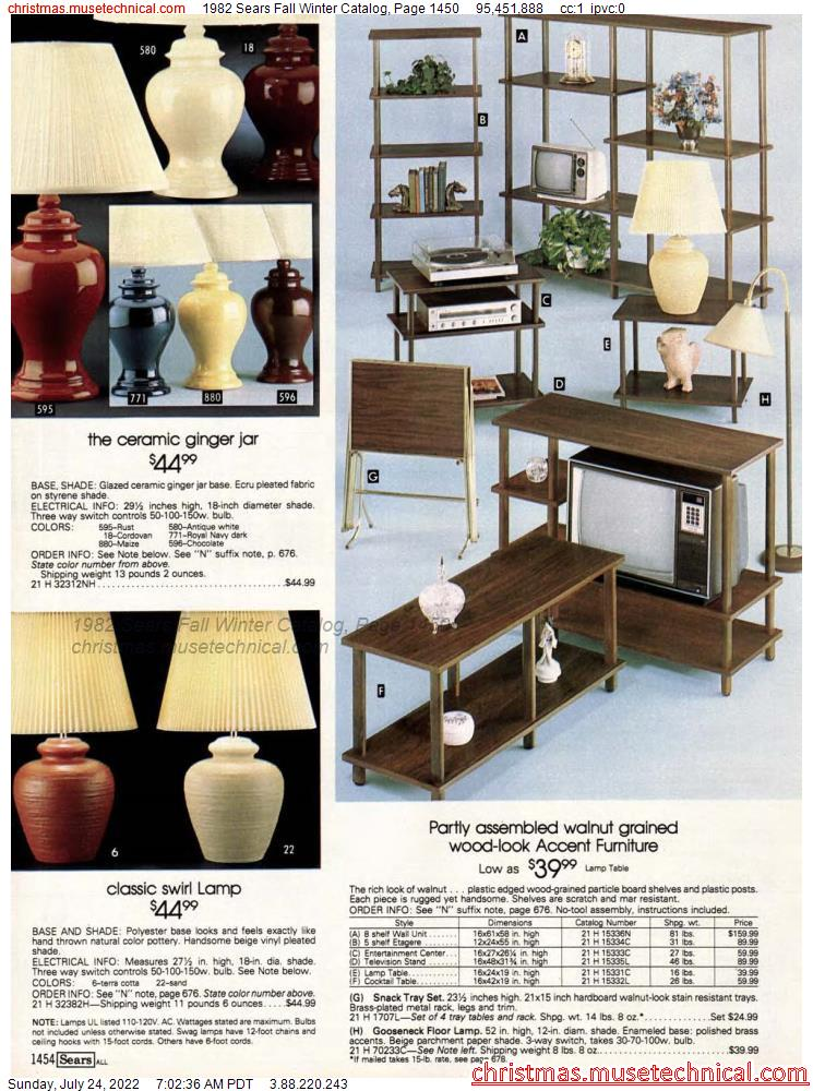 1982 Sears Fall Winter Catalog, Page 1450