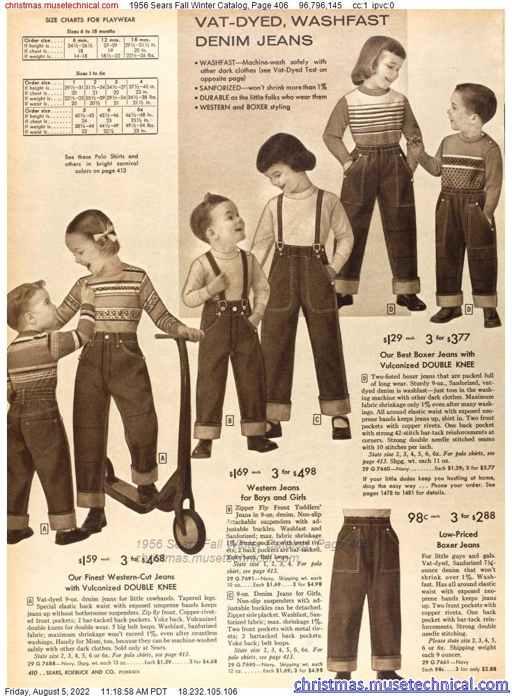 1956 Sears Fall Winter Catalog, Page 406