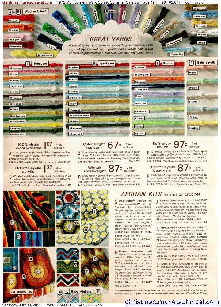 1972 Montgomery Ward Spring Summer Catalog, Page 194