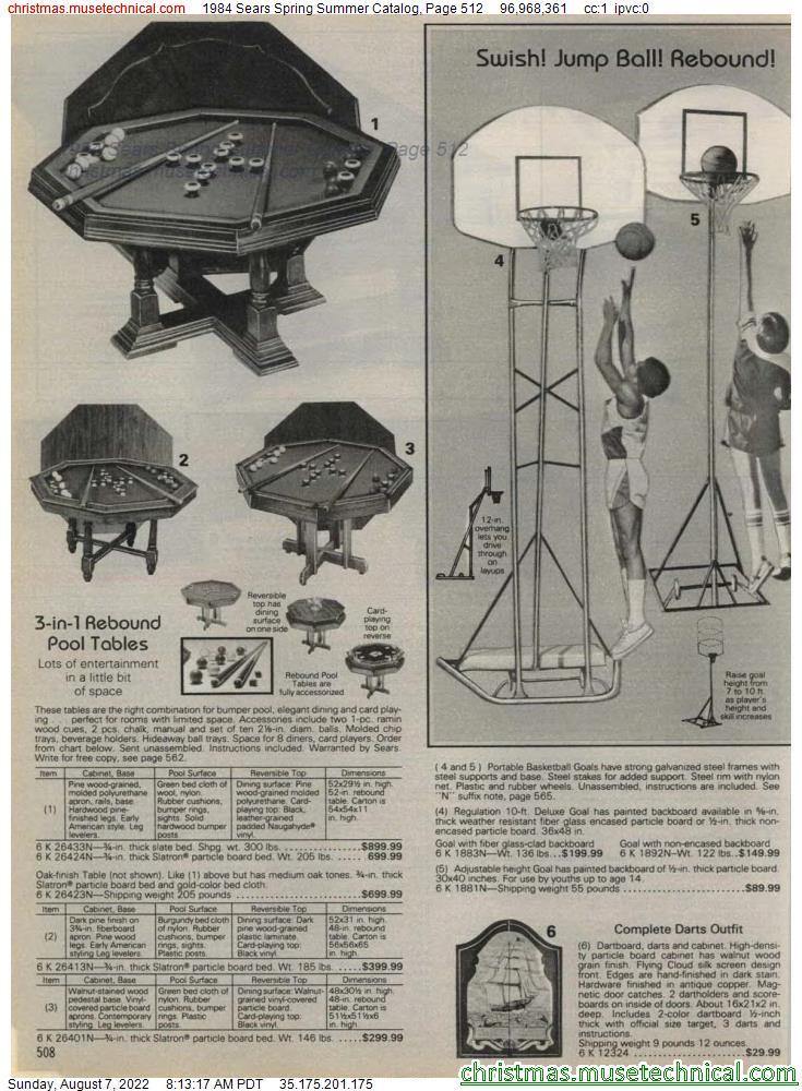 1984 Sears Spring Summer Catalog, Page 512