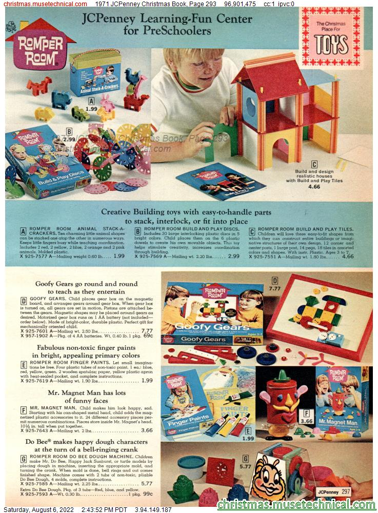 1971 JCPenney Christmas Book, Page 293