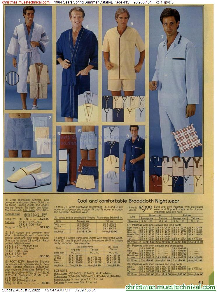 1984 Sears Spring Summer Catalog, Page 415