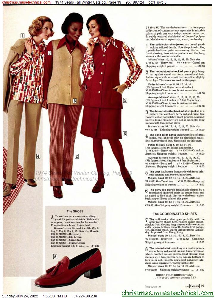 1974 Sears Fall Winter Catalog, Page 19