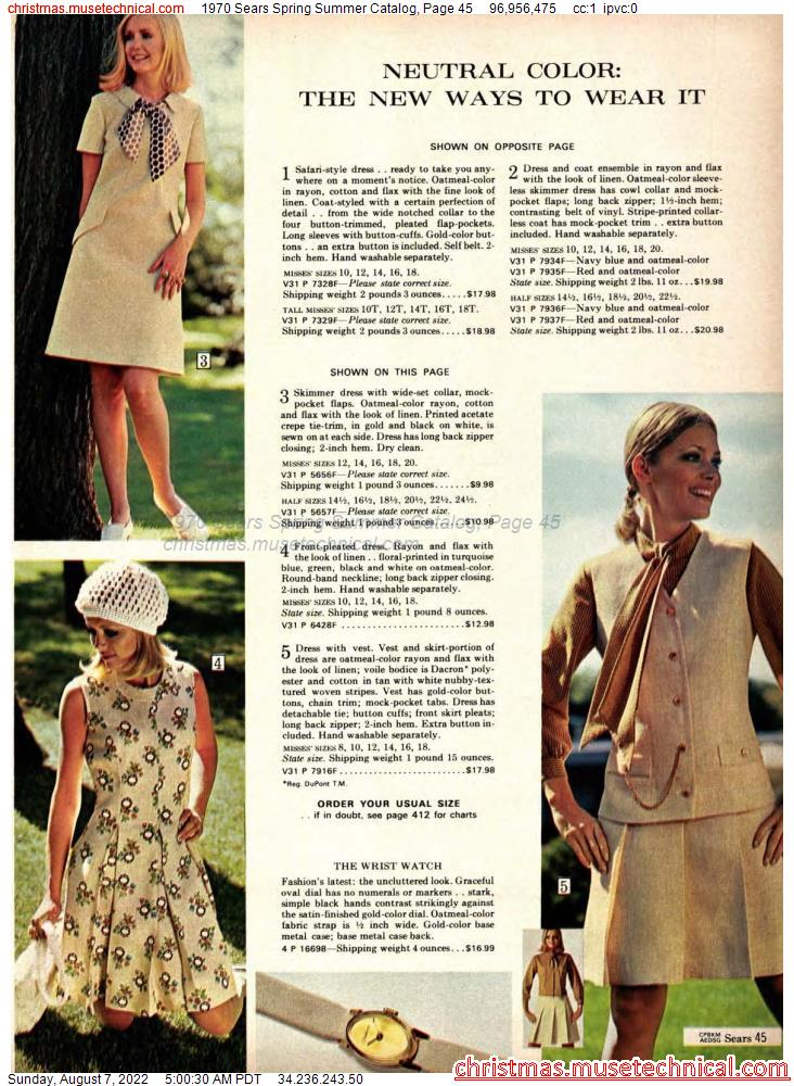 1970 Sears Spring Summer Catalog, Page 45