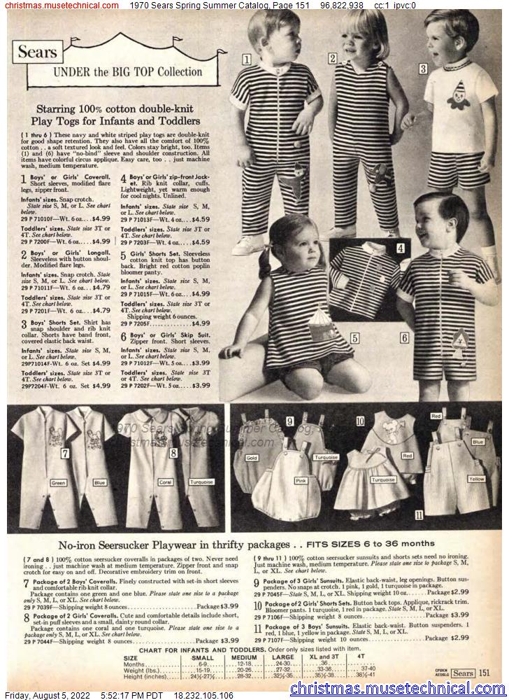 1970 Sears Spring Summer Catalog, Page 151