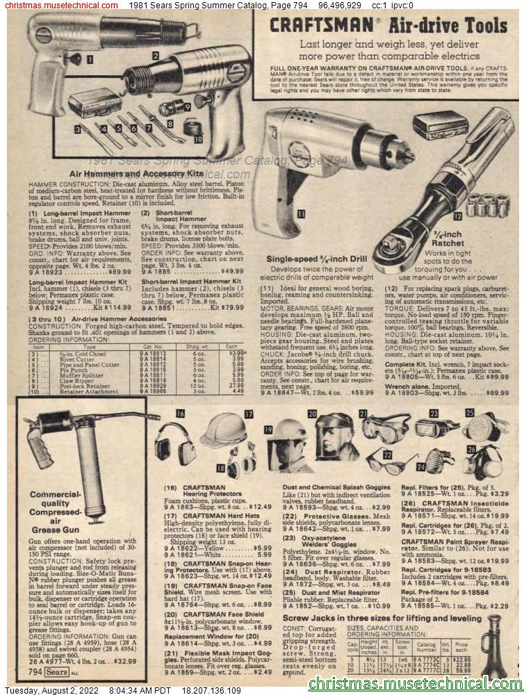 1981 Sears Spring Summer Catalog, Page 794
